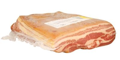 Pork Belly Boneless Skin On 1/2 Cut KG RW Frozen