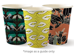 Cup 12oz 90mm Art Series Biodegradable 50pk BIOPAK