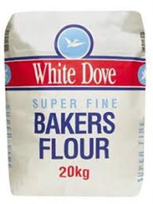 Flour Super Fine Bakers 20kg WHITE DOVE