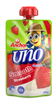 Yoghurt Uno Strawberry Pouch 100g ANCHOR