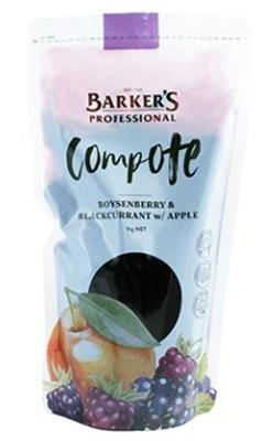 Compote Boysenberry Blackcurrant & Apple 1kg BARKERS