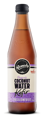 Drink Kefir Coconut Water Passionfruit Organic 330ml REMEDY