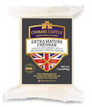 Cheese Cheddar Extra Mature White 200g COOMBE CASTLE